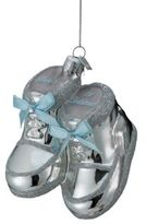 Kurt Adler Noble Gems Collection Baby Shoes Glass Ornament