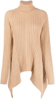 Alexander McQueen Asymmetric Hem Knitted Roll Neck