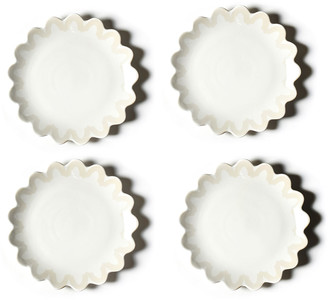 Coton Colors Arabesque Trim Scallop Edge Plate