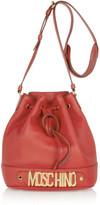 Moschino Textured-leather bucket bag