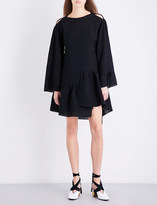 3.1 Phillip Lim Asymmetric ruffled cotton-blend mini dress