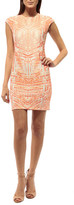 Johanne Beck - Coco - Cap Sleeve Dress / Geo Mango 1S