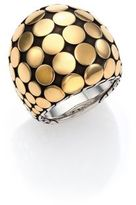 John Hardy Dot 18K Yellow Gold & Sterling Silver Dome Ring