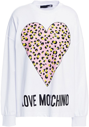 Love Moschino Printed French Cotton-terry Sweatshirt