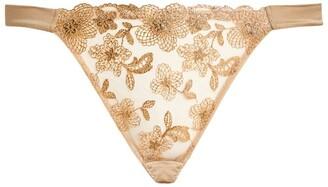 Myla Metallic Floral Thong