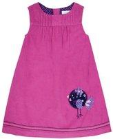 Jo-Jo JoJo Maman Bebe Bird Pinafore Dress (Baby) - Raspberry-18-24 Months