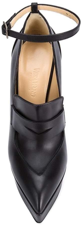 Vera Wang penny loafer pumps