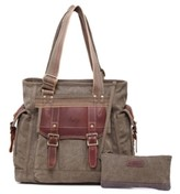 Tsd Brand Turtle Ridge Canvas Tote Bag
