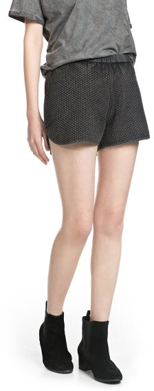 MANGO Outlet Washed Textured Shorts