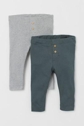 H&M 2-pack Leggings - Green