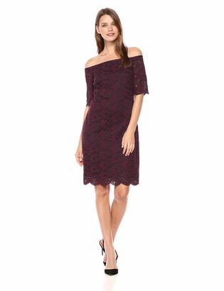 Lark & Ro Women's Half Sleeve Lace Off the Shoulder Sheath Dress