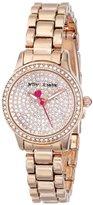 Betsey Johnson Women's BJ00272-03 Analog Display Quartz Rose Gold Watch