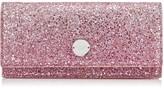 Jimmy Choo FIE Platinum and Flamingo Ice Glitter Dégradé Fabric Clutch Bag