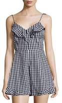 Saks Fifth Avenue RED Gingham Cotton Romper