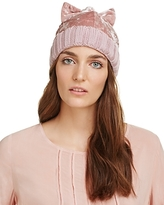 Federica Moretti Velvet Cap with Bow - 100% Exclusive