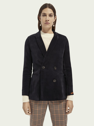 Scotch & Soda Double-breasted cord blazer | Women