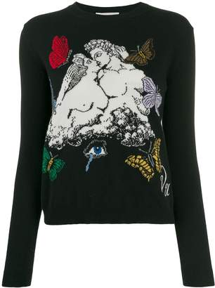 Valentino jacquard knitted jumper