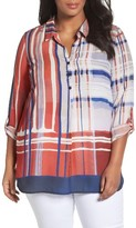 Nic+Zoe Plus Size Women's Plaid Shirt