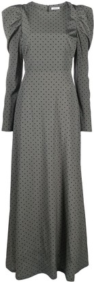 P.A.R.O.S.H. Polka-Dot Print Long Dress