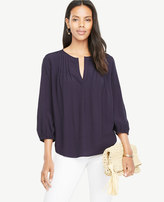 Ann Taylor Pintucked Popover Blouse