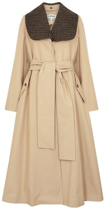 Loewe Sand Cotton-twill Trench Coat