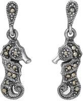 John Greed Adaline Marcasite Vintage Seahorse Earrings