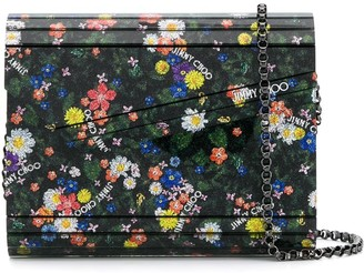 Jimmy Choo Candy floral-print clutch bag