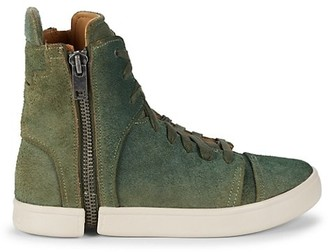 Diesel Leather & Suede High-Top Sneakers