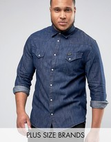 Wrangler PLUS Western Shirt Indigo Wash