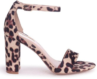 Linzi NELLY - Natural Leopard Suede Single Sole Block Heel