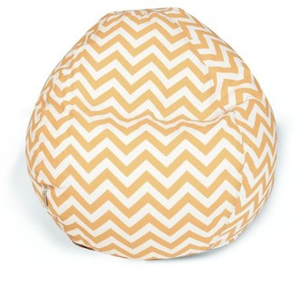 Majestic Home Goods Chevron Large Classic Bean Bag Chair, Multiple Colors