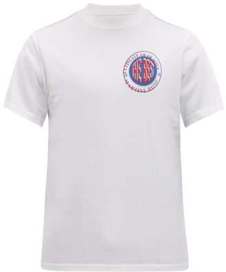 Martine Rose Inverted Logo-print Cotton T-shirt - Mens - White