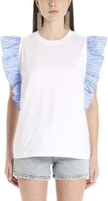 MSGM Ruffled T-Shirt