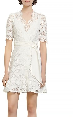 Sandro Zany Lace Mini Dress