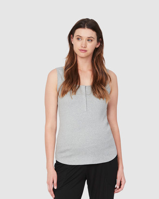 Soon Women's Grey Singlets - Essential Feeding Tank - Size One Size, XS at The Iconic