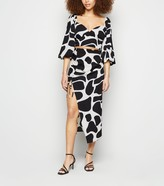 Thumbnail for your product : New Look Urban Bliss Giraffe Print Split Midi Skirt