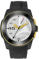 Reebok Haymaker Ion-Plated Stainless Steel and Silicone Strap Watch