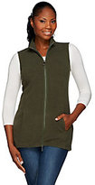 Denim & Co. As Is Zip Front Fleece Vest with Pockets