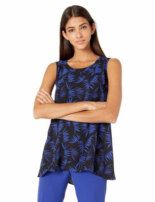 Anne Klein Women's SLVLESS HIGH-Low Tunic Blouse