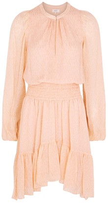 A.L.C. Sidney pink fil coupe mini dress
