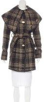 Rachel Zoe Collar Overlay Tweed Coat w/ Tags