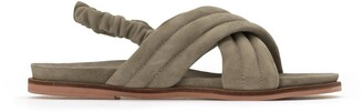 La Redoute Collections Suede Flat Sandals with Crossover Straps