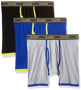 Hanes Men's 3 Pack Ultimate Stretch Colored Boxer Briefs, Colors May Vary