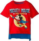 Disney Little Boys' Mickey Mouse Super Short Sleeve Cape T-Shirt