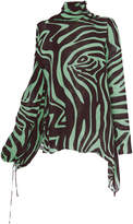 Emilio Pucci High Neck Animal Print Blouse