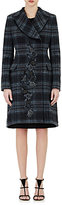 Alberta Ferretti WOMEN'S EMBELLISHED FLANNEL DOUBLE-BREASTED COAT SIZE 44 IT