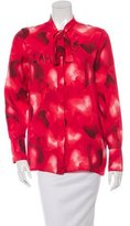 Valentino Pre-Fall 2015 Silk Heart Print Blouse w/ Tags
