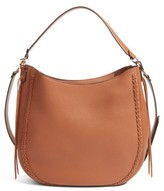 Rebecca Minkoff Unlined Convertible Whipstitch Hobo - Beige