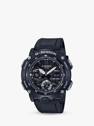 Casio GA-2000S-1AER Men's G-Shock Chronograph Day Resin Strap Watch, Black