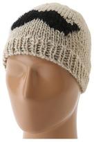 San Diego Hat Company KNH3300 Knit Mustache Beanie (Oatmeal W/Black) - Hats